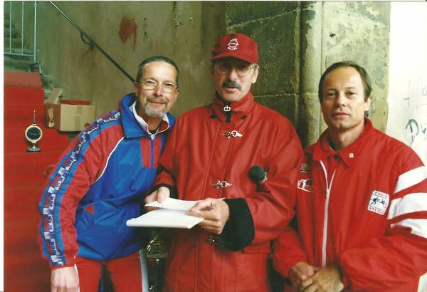 Stefano Del Mastro,Giuseppe Gianfreda e Pietro Livi alla Corsa del Saracino a Piazza Grande